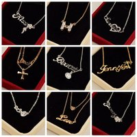 asian fashion shop - Hot Sale very popular Korean fashion short letter Diamond Necklace Alloy clavicle shop selling goods accessories