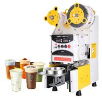 Wholesale 220V New Bubble Tea Cup Sealing machine Full Automatic Fruit Juice Cup Sealer