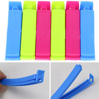 Wholesale 6PCS Food Fresh Plastic Large Food Bag Storage Sealing Clips Ziplock Clip E00099 BARD