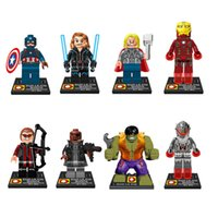 age blocks - Marvel Avengers Age Of Ultron Figures Building Blocks Sets Model Minifigures Bricks Classic Toys For Children Gift
