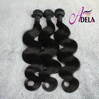 Wholesale New Arrival A Indian Virgin Human Hair Weave inch bundles Body Wave Natural Color Indian Remy Hair Weft Extensions Dyeable