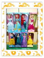 Wholesale 2016 CM Popular princess snow white cinderella aurora ariel belle jasmine brave elsa girl vinly dolls girls gift toys