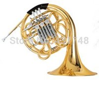 Wholesale Double Row French Horn in F Bb Four Rotary Valves With ABS case and mouthpiece Musical instruments