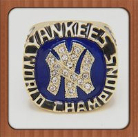 baseball party plates - Bottom Price For Replica Newest Design Yankees Major League Baseball Championship Ring Replica Gold Plated Alloy Rings For Men