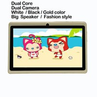 Wholesale 7 quot Tab pc android4 wifi dual core dual camera tablet pc good choose for Gifts and promotions inch tablet pc white black