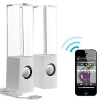 android phone speaker system - Koteel Dual Speaker System LED Bluetooth Dancing Water Speakers Support TF Card for Android phone iPhone iPad Cellphone PC White