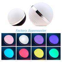 Wholesale Colorful LED Light Mini Portable Speaker Wireless Bluetooth Speakers TF Card Reader Hand Free Calls Phone Speaker Ball Sound Box