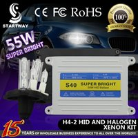 Wholesale 12v W AC HID Xenon Full Kit with W S40 Slim Ballast and H4 K K K K HID Halogen Dual Lamp w
