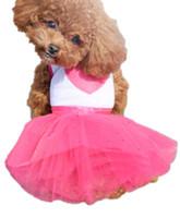 Dog Costumes Fall/Winter Mardi Gras Sweet Fashion Puppy Dog Clothes & Heart Printed Princess Dress Dog Lace Skirt Pet Dog Tutu Dress mascotas