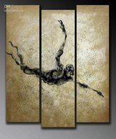 abstract movement - Special offer Promote abstract sports the limit movement painting black and white oil painting set panels
