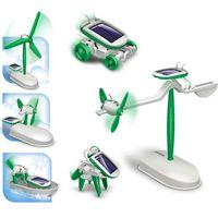 Wholesale Solar Power in boys girls DIY dog plane boat shape creative novely fashion toy learn Educational kids toy gift