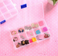 bead earrings kits - 3pcs set Grids DIY Earrings Jewelry Display Stand Case Plastic Jewellery Bead Organizer Box Storage Container pill Case