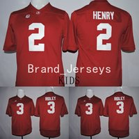 alabama boys - 2016 Alabama Crimson Tide Ridley Derrick Henry America College Alumni Football Jersey KIDS YOUTH Jerseys Red Embroidery logos Stitched