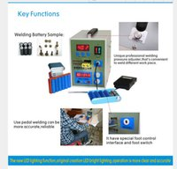 Wholesale LED Pulse Battery Spot welder A Spot welding Machine Micro computer micro welding with LED light Nickel Battery Clamp