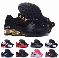 air shox shoes - 2016 Shox Current Air Cushion Running Shoes Mens Original White Gold Black Shox NZ Trainers Sneakers Shoes Sport Shox Shoes Size