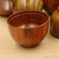 Wholesale original Japanese lacquer bowls adult children baby safety wood bowl soup bowl against hot jujube wood