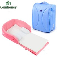 Wholesale Portable Baby Crib Nursery Outdoor Travel Folding Baby Bed Bag Infant Toddler Cradle Cot Multifunction Storage Bag For Baby Care