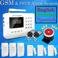 Wholesale Hot Selling Wireless PSTN GSM Alarm System MHz Home Burglar Security Alarm System
