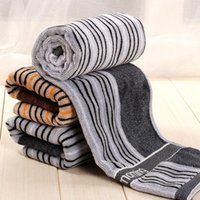 bath english - 100 Cotton cm Striped Hand Towel English Jacquard Face Towels Soft Warmth Adults Washcloth Bath Universal High grade