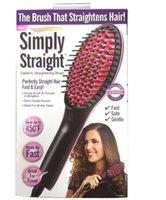 oil display - simply straight ceramic electric degital control antiscaled hair straightener brush comb with lcd display DHL Free