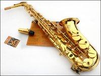 Wholesale EMS selmer alto saxophone e musical instrument Electrophoresis gold professional grade