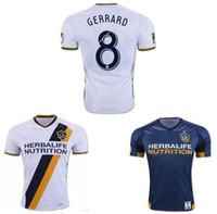 beckham uniform - 2016 LA Galaxy Jerseys Soccer Los Angeles Football Shirt Uniform GERRARD BECKHAM GIOVANI DONOVAN KEANE GONZALEZ Thia Quality