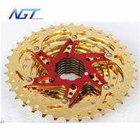 Wholesale New T Speed cassette road bike gold Flywheel Mountain Bike Freewheel Bicycles Cassette Parts speed