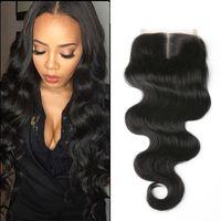 Wholesale brazilian hair inch lace frontal human hair closure body wavehuman hair weave front lace closure Unprocessed Hair closure