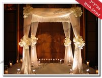 banquet wedding halls - 3 M Wedding Decoration Reception Hall With Matched Stainless Steel Stand Banquet Favors Canopy Drapes