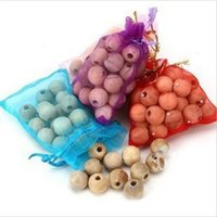 Wholesale Home Fragrance Pure Natural Sandalwood Fragrant Moth Balls Wood Fresh Air Ball Flavor For Wardrobe Closet Car Bag