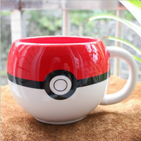 white ceramic mug - Poke Ball Mug with Gift Boxes Handgrip Ceramic Coffee Mug Water Milk Tea Cup White Red Color