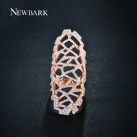 best brand fines - NEWBARK Brand Full Mid Finger Rings With Fine Tiny CZ Stone K Rose Gold Plated Jewellery Fashion Rings For Women Best Gift