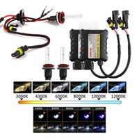 achat en gros de h11 caché kit de phare-55W Xenon HID Conversion Phare KIT H1 H3 H7 H8 / H9 / H11 880/881 9005 9006 12000K Car Led Ampoules
