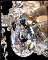 achat en gros de verre expédition prisme libre-Vente en gros-200pcs / lot 38mm Livraison gratuite rapide Magnifique cristal en verre clair Chandelier Prisme pendentif en fourniture de Noël, pendentifs en chandelier