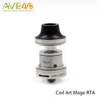 air food - Original CoilArt MAGE RTA Tank ml Adjustable Airflow Dual Air Tubes Inside Chamber Food Grade Pyrex Glass