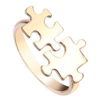 band puzzle ring - 10pcs Adjustable Jigsaw Puzzle Rings DIY Designed Jigsaw Puzzle Ring for Men Couple Ring