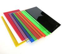Wholesale 2pcs mm Color Transparent Acrylic Sheet Plexiglass Plastic Plate Red Orange Yellow Blue Green Tan Black