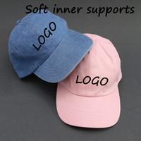 baseball cap holders - Special DIY Cotton Snapback Adult Customized Baseball caps With Soft holder Inner D Embroidery LOGO hats Sun Baseball Black cap Peaked