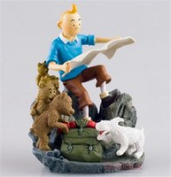 adventures of tintin - Herge The Adventures Of Tintin Comic Destination Moon Objectif Lune Tintin Map Milou Snowy action Figure Toys gifts