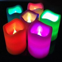 battery candles weddings - Electric Flash LED Tealight Tea Candles Color Changing Flameless Light Battery Operated Lamp for Wedding Birthday Party Christmas Decoration