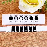 Wholesale Handy Kid Forehead Strip Head Thermometer Fever Body Temperature Test Black L00094 OSTH
