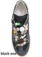 beaded fitness - Flash Sale Mens Fitness Casual Shoes New Coming Maison Margiela Calfskin Leather Sneaker with Beaded Laces