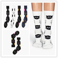 animals women tube - 2016 Brand new Creative Women happy socks fashion Cat Socks Kawaii Ladies Cartoon Cotton Art Socks Funny candy color mid tube crew Socks