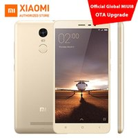 al por mayor 32gb xiaomi-Original Xiaomi Redmi Nota 3 Teléfono móvil favorable favorable 5.5 pulgadas FHD 3GB 32GB 64bit Snapdragon 650 16.0MP ROM global MIUI8