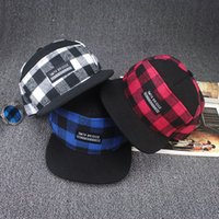 Wholesale hats discount New Fashion Plaid Baseball Cap Men and Women Hip Hop Caps Bone Gorras Snapback Hats New York Hat Casquette