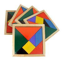 Wholesale Children Mental Development Tangram Wooden Jigsaw Puzzle Educational Toys for Kids