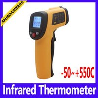 Wholesale GM550 wireless digital thermometer Non contact Temperature Tester IR Temperature Laser Gun Device Range C