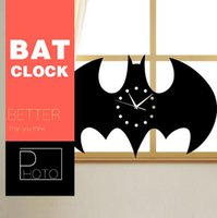 Wholesale DIY Wall Stickers Living Room cartoon Wall Clock Clock Creative Home Decorations Craft Wall Clock Batman Watches