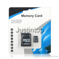 Wholesale Micro SD Card GB GB Fast Speed Class SDHC Real Capacity With Memory Reader Adapter Retail Package For Android S905 S912 K TV BOX
