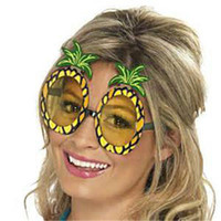 Wholesale Sunglasses Costume Wholesale - Halloween Adult Cosutmes Sunglasses 14x11.5cm Lady Women Hawaii Beach Pineapple Fashion Funny Luau Party Adult Glasses Holiday Accessories
